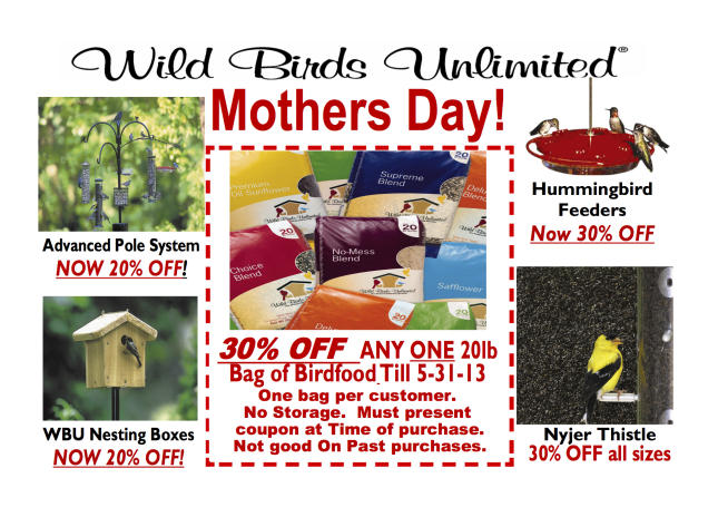 May 2013 Mothers Day Sale